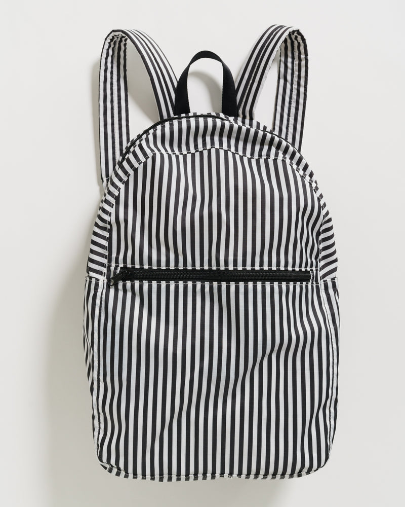 BAGGU Travel Packable Backpack - Black and White Stripe
