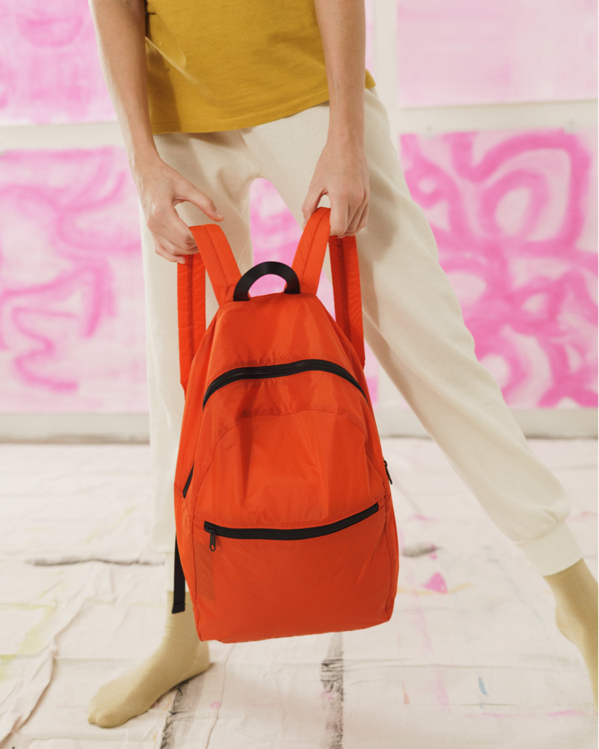 Packable Backpack - Tomato