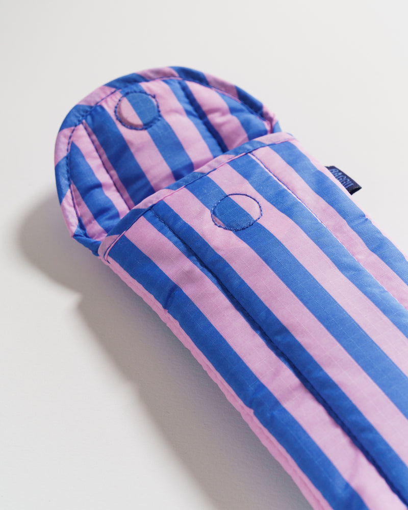 BAGGU Pouches Puffy Glasses Sleeve - Pink and Blue Stripe