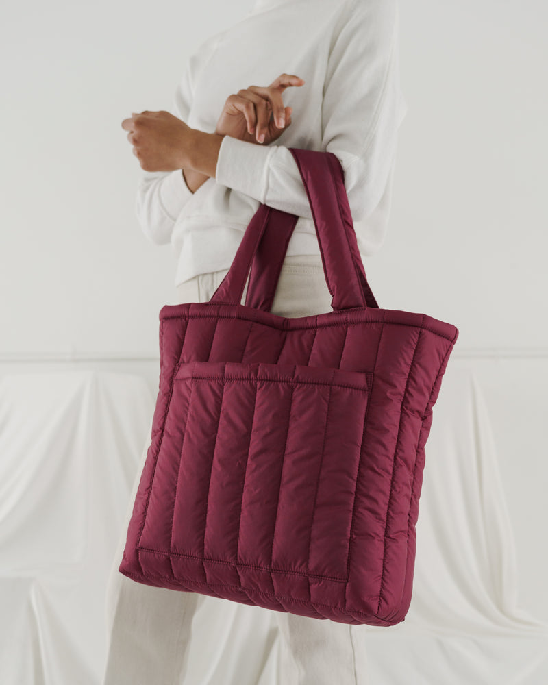 Puffy Tote - Cranberry
