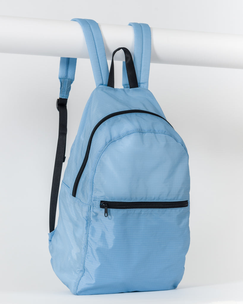 Ripstop Backpack - Packable Backpack - Powder Blue - Light Blue - A lightweight backpack in 100% ripstop nylon, compacts into its own zip pocket for easy travel. - Tags: Nylon backpack, daypack, travel