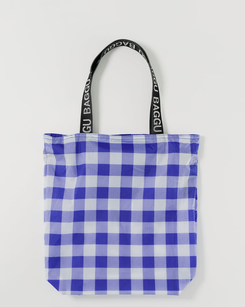 Ripstop Tote - Big Check Blue