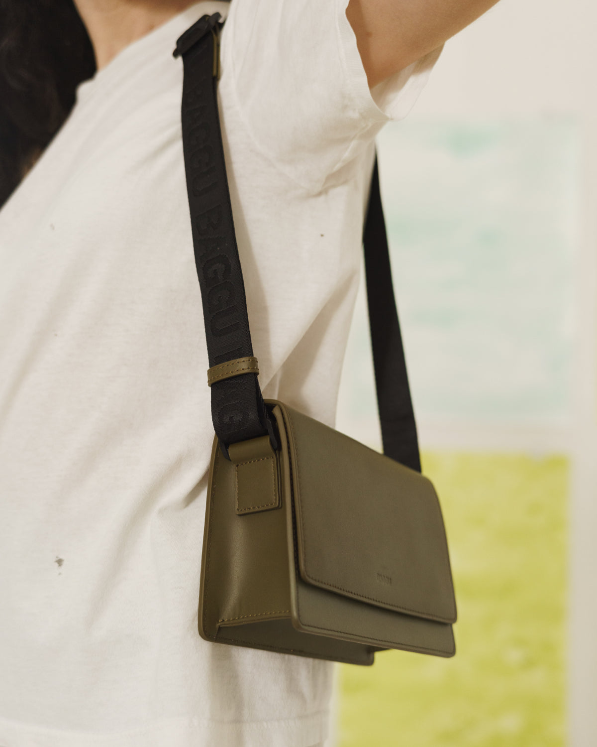 Small Block Purse - Kelp