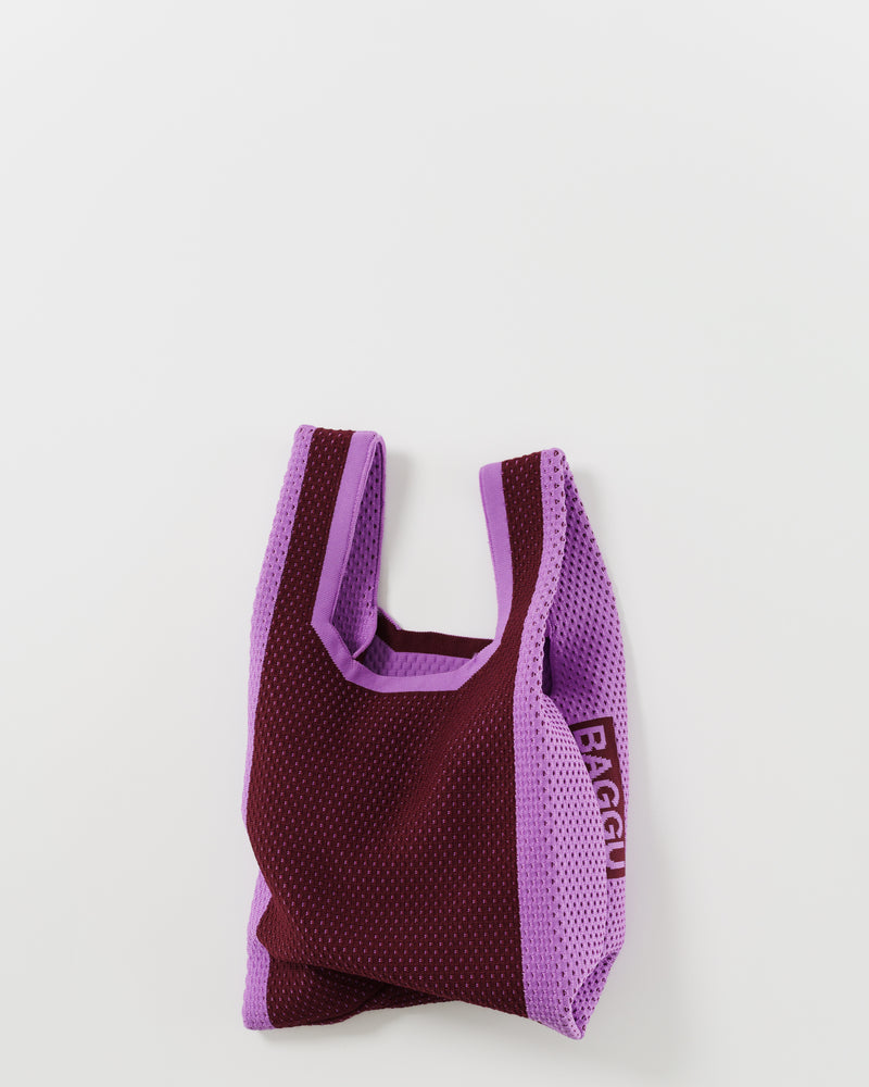 Mini Engineered Knit Baggu - Berry