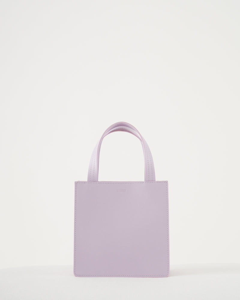 Small Leather Retail Tote - Pale Orchid
