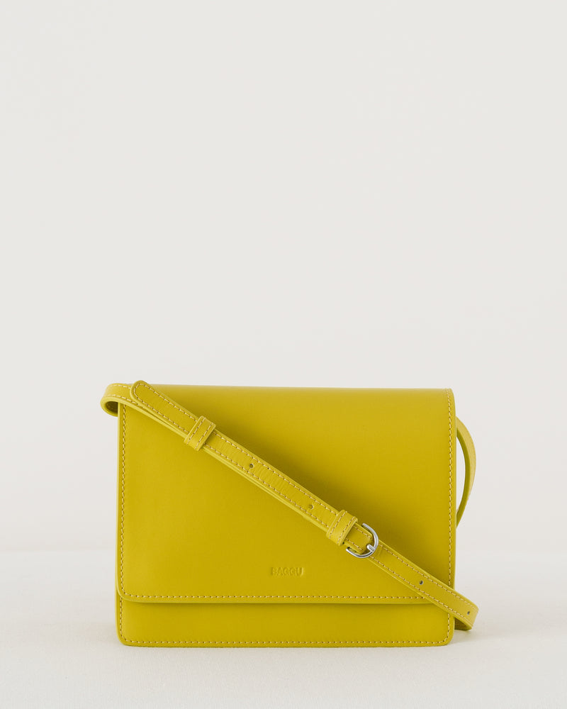 Small Structured Crossbody - Citron