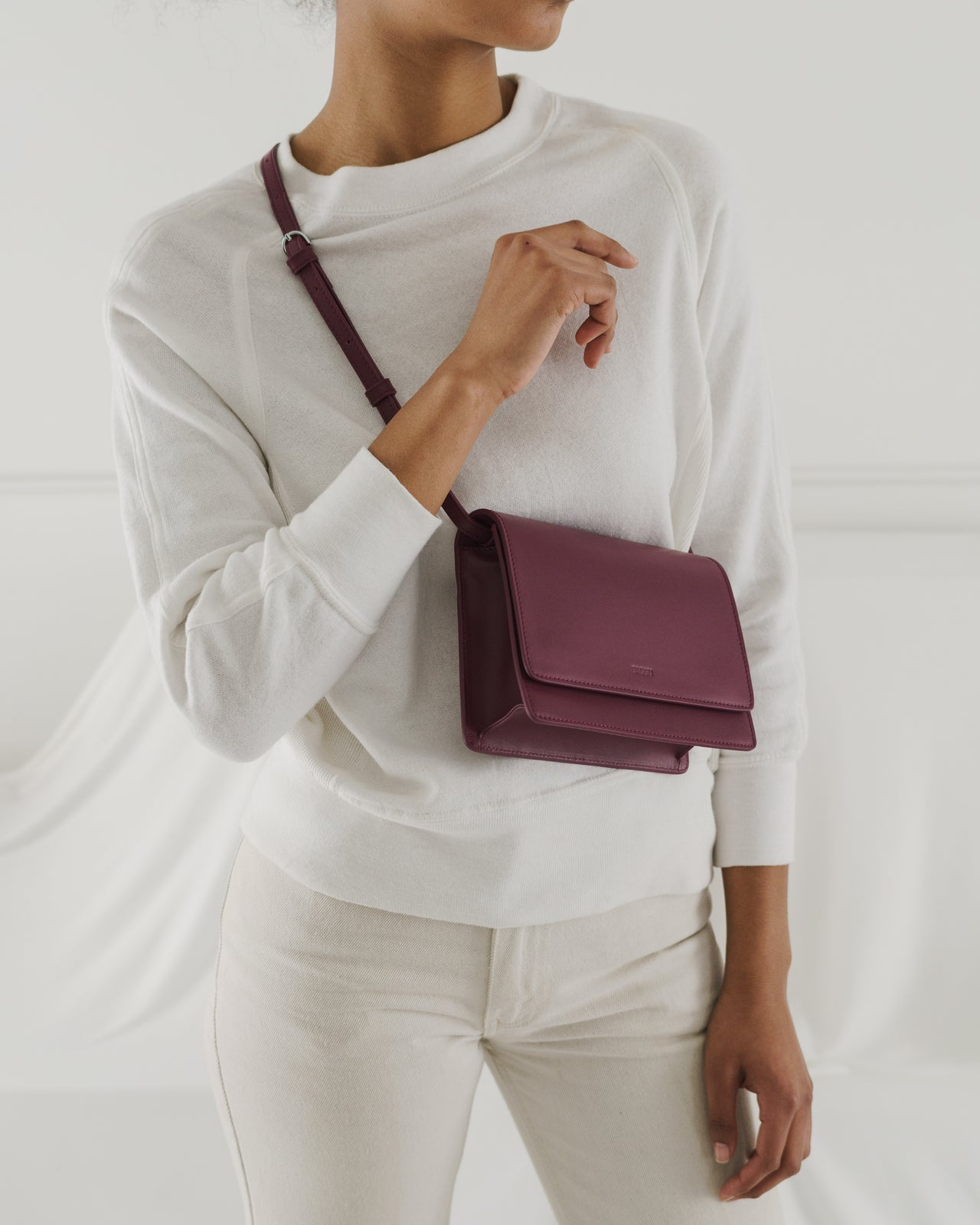 Small Structured Crossbody - Cranberry