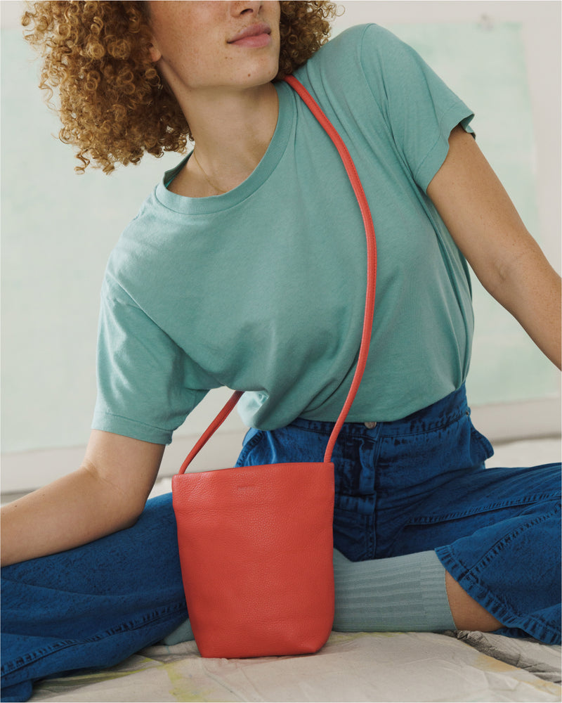 BAGGU Cross Body Soft Crossbody Purse - Vermilion