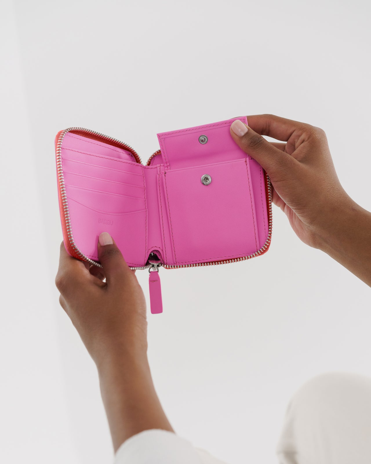 Square Wallet - Bright Pink