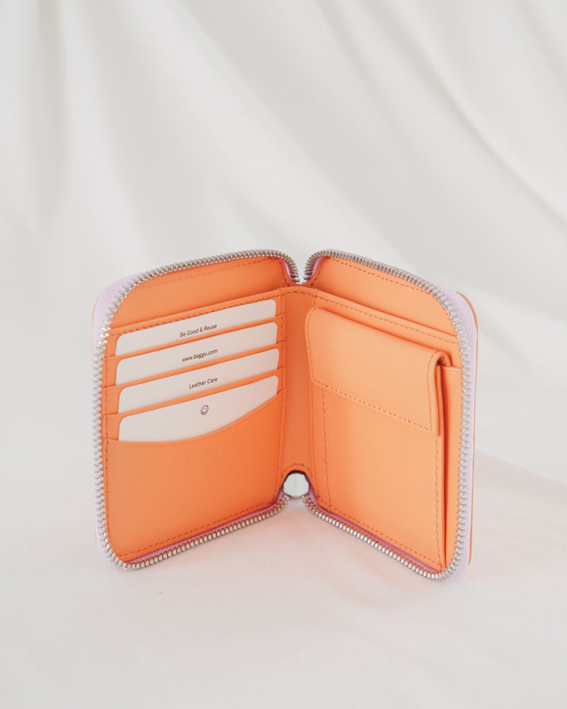 Square Wallet - Orange Sherbet