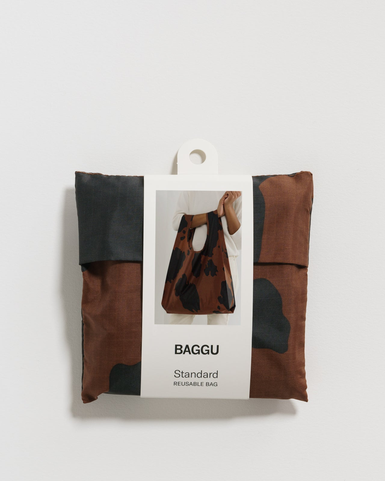 Standard Baggu - Black and Brown Cow