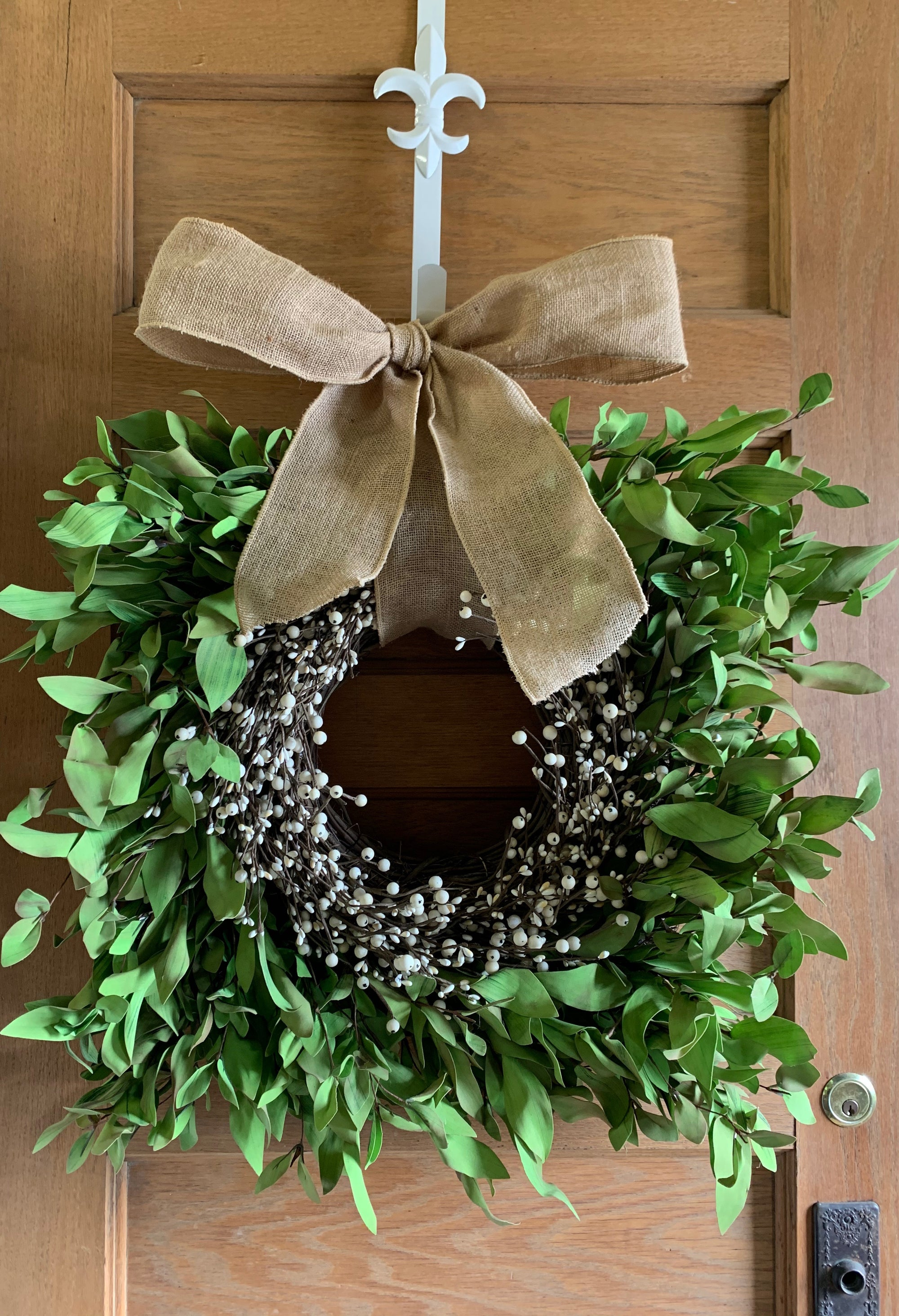 Spring Square Boxwood Wreath