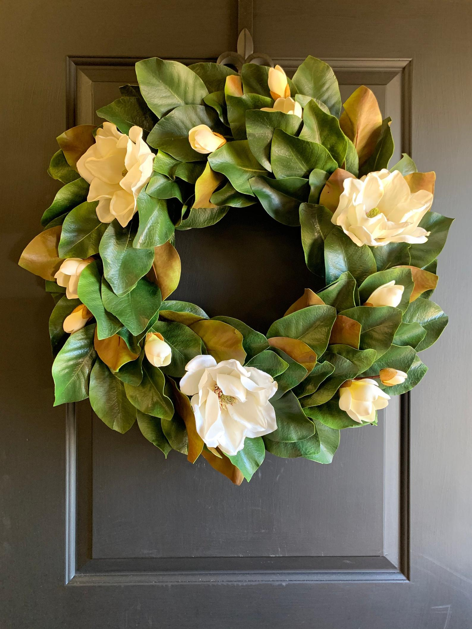Spring Magnolia Wreath