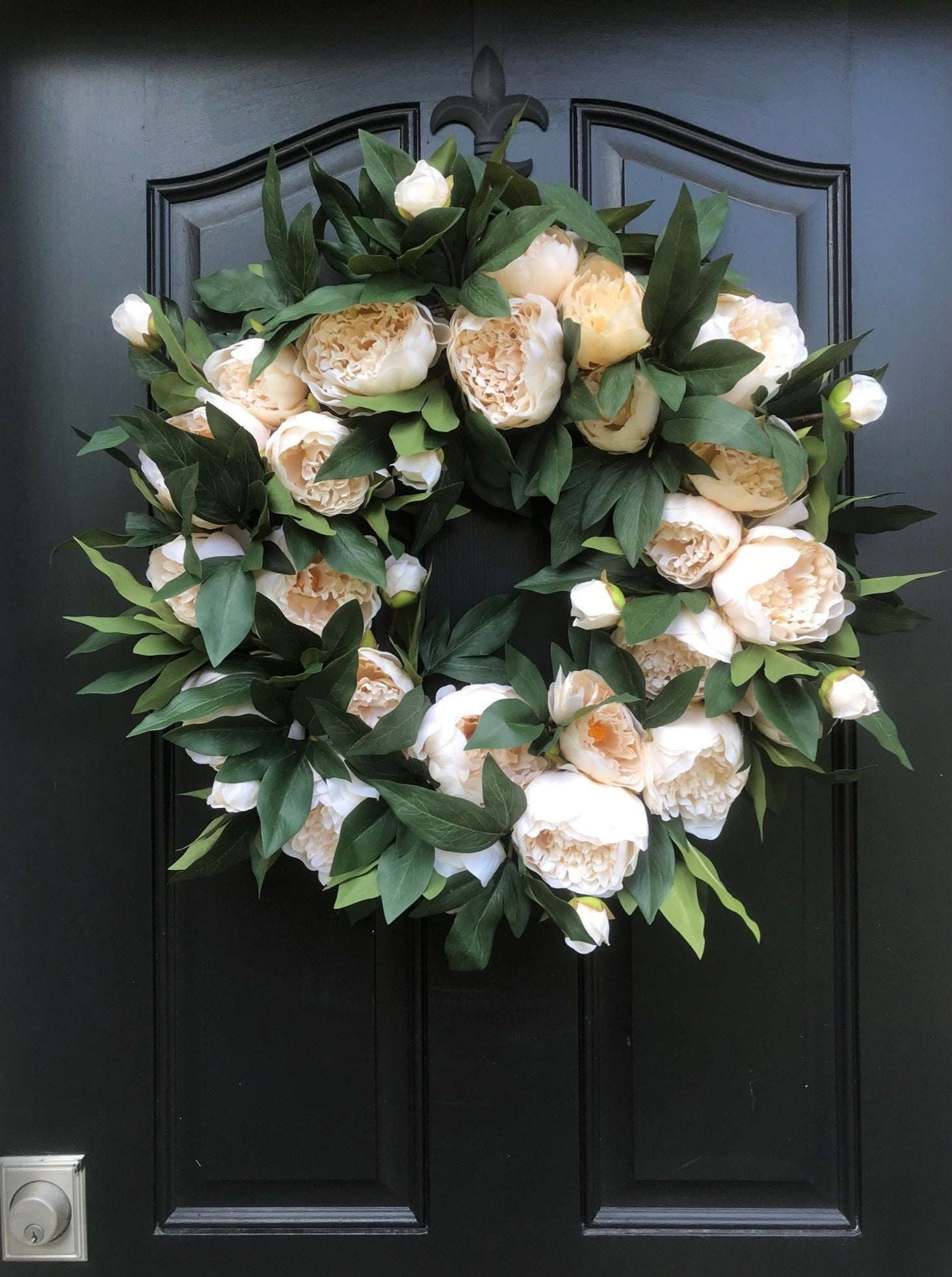 Everyday Cream Peony Wreath - TwoInspireYou