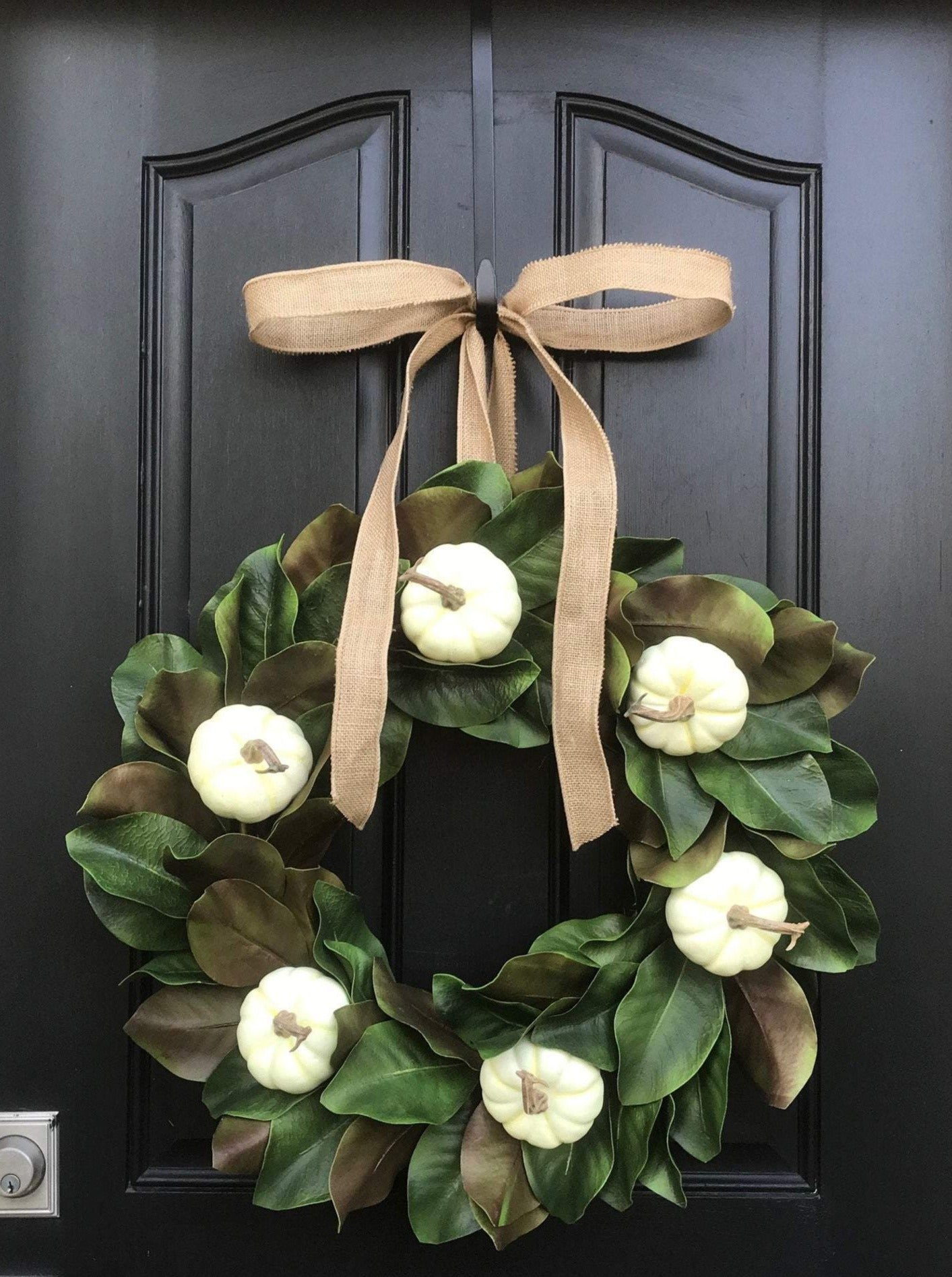 Magnolia Pumpkin Wreath - TwoInspireYou