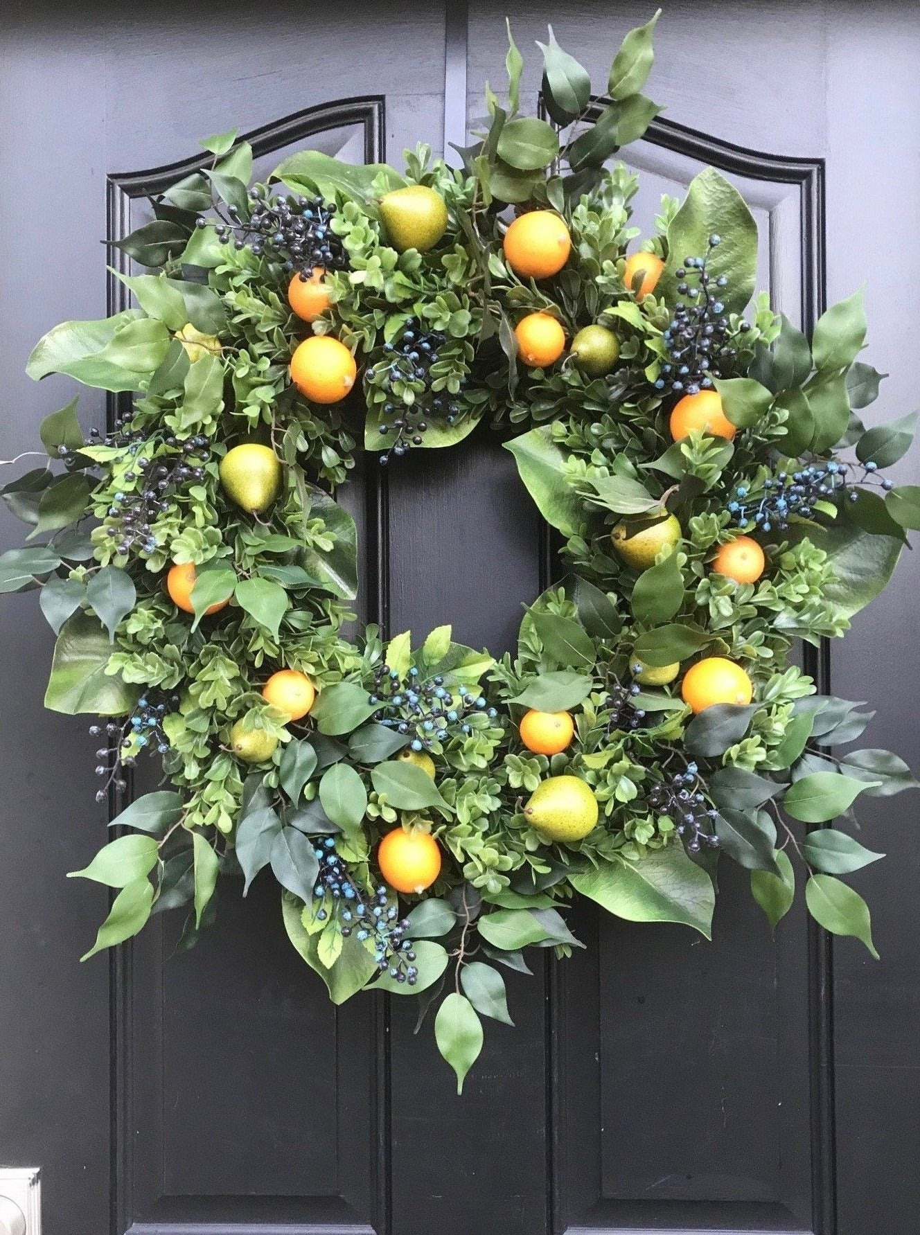 Colonial Williamsburg-Style Fruit Wreath - TwoInspireYou