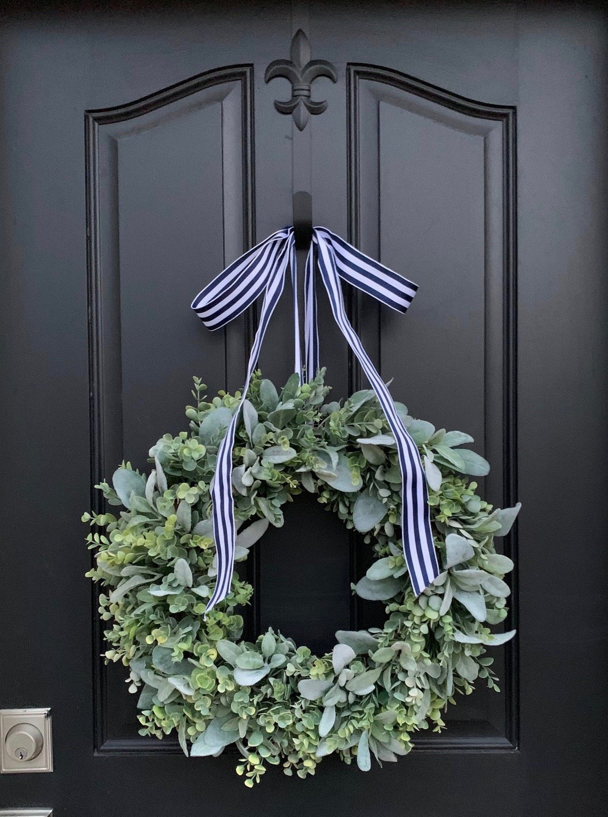 Lamb's Ear and Eucalyptus Wreath - TwoInspireYou