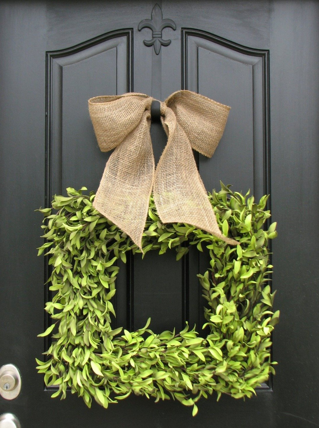 Square Boxwood Wreath - TwoInspireYou