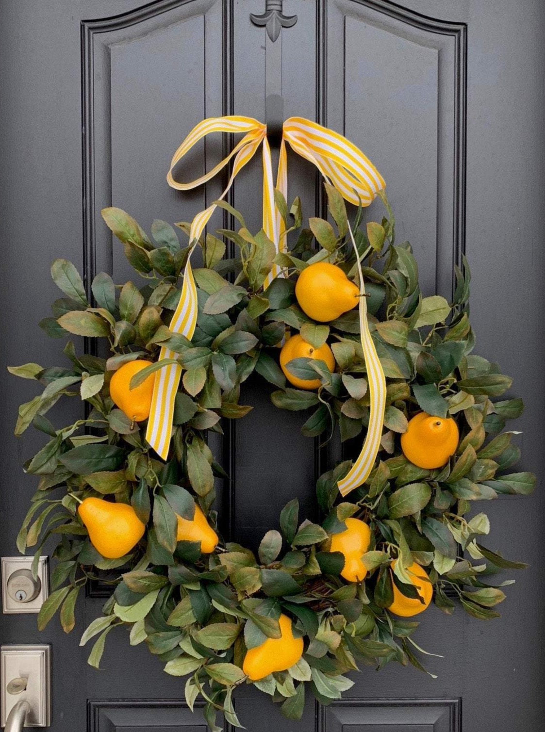 Yellow Pear Wreath - TwoInspireYou