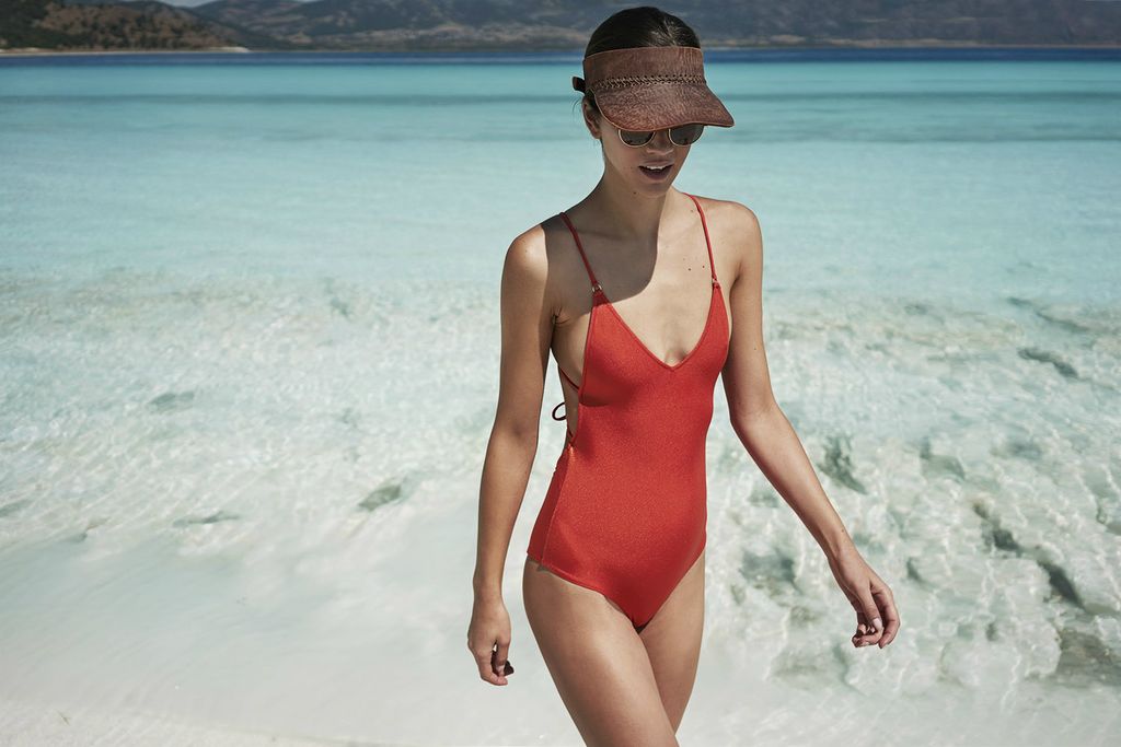 Alicia Swimsuit Vermilion