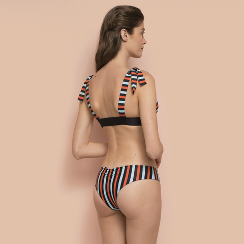 Reversible Ecemen Bikini Bottom Striped/Blue