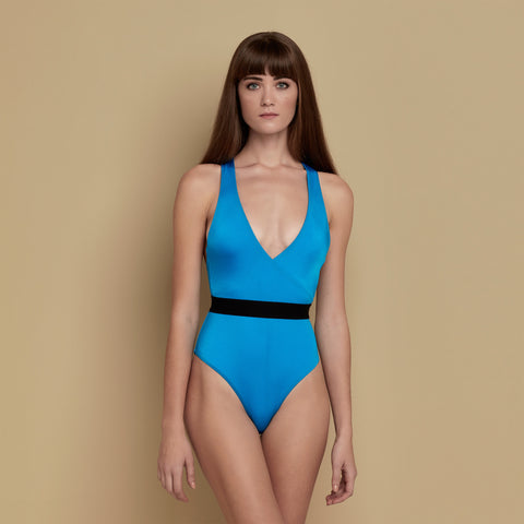 Odette Swimsuit Shiny Blue