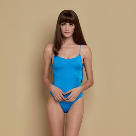 Vera Swimsuit Shiny Blue