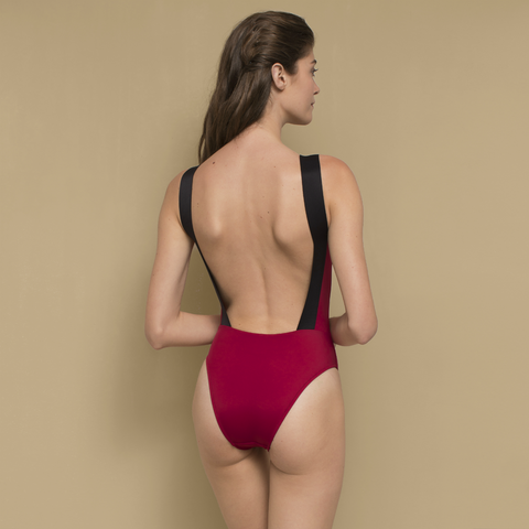Wendy Swimsuit Maroon