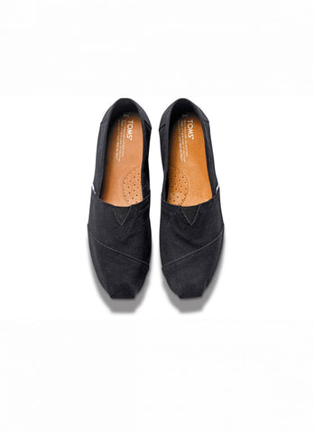 WOMENS CLASSIC TOMS IN BLACK