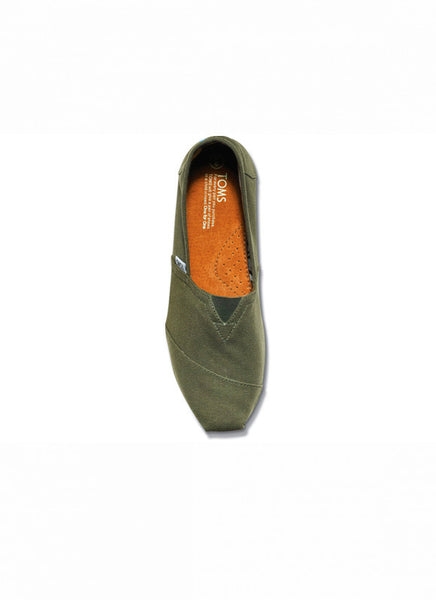 WOMENS CLASSIC TOMS IN OLIVE