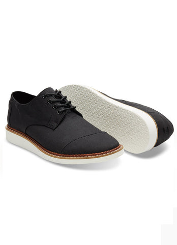 MENS BROGUES IN Black Cotton Twill