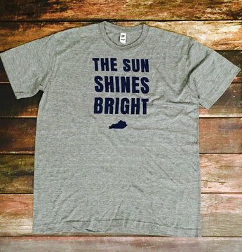 Sun Shines Bright Triblend Gray Tee