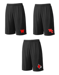 WAYNE COUNTY CARDINALS DRI-FIT ATHLETIC POCKET SHORTS