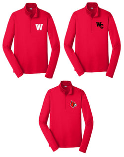 Wayne County Cardinals 1/4 zip Dri-fit Pullover