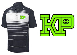 KENTUCKY PREMIER STRIPED POLO Primetime Logo