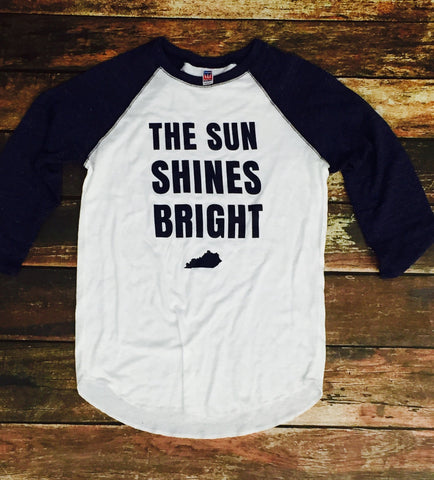 Sun Shines Bright Triblend Baseball Raglan