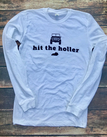 Hit the Holler Long sleeve tee
