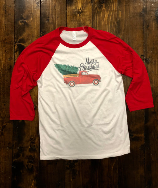 Merry Christmas Adult and Youth Raglan