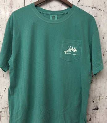 Bonefish - Lake Cumberland  Pocket Tee - Seafoam