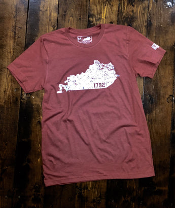 Kentucky 1792 Distressed State T-Shirt