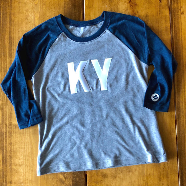 KY Kids Navy Raglan Baby/Toddler/Youth