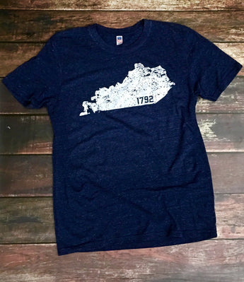 KY 1792 Triblend Navy Tee