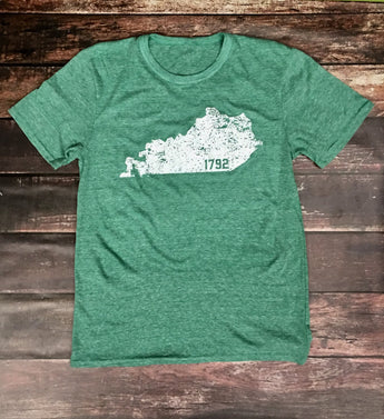 KY 1792 Triblend Green Tee