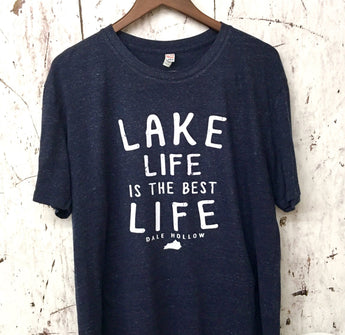 Lake Life - Dale Hollow Triblend tee Navy