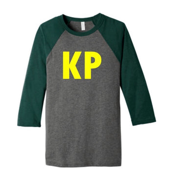 Kentucky Premier Baseball Raglan Green Vintage with Stitched Style KP