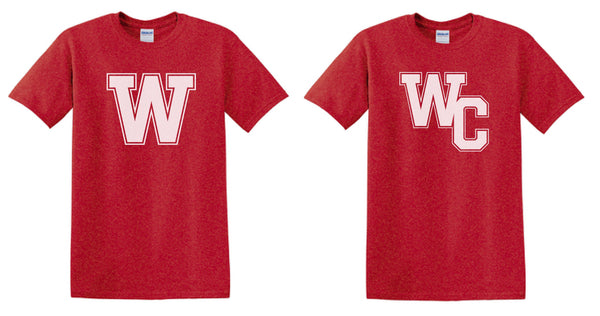 Wayne County Varsity W or WC Logo T-Shirt