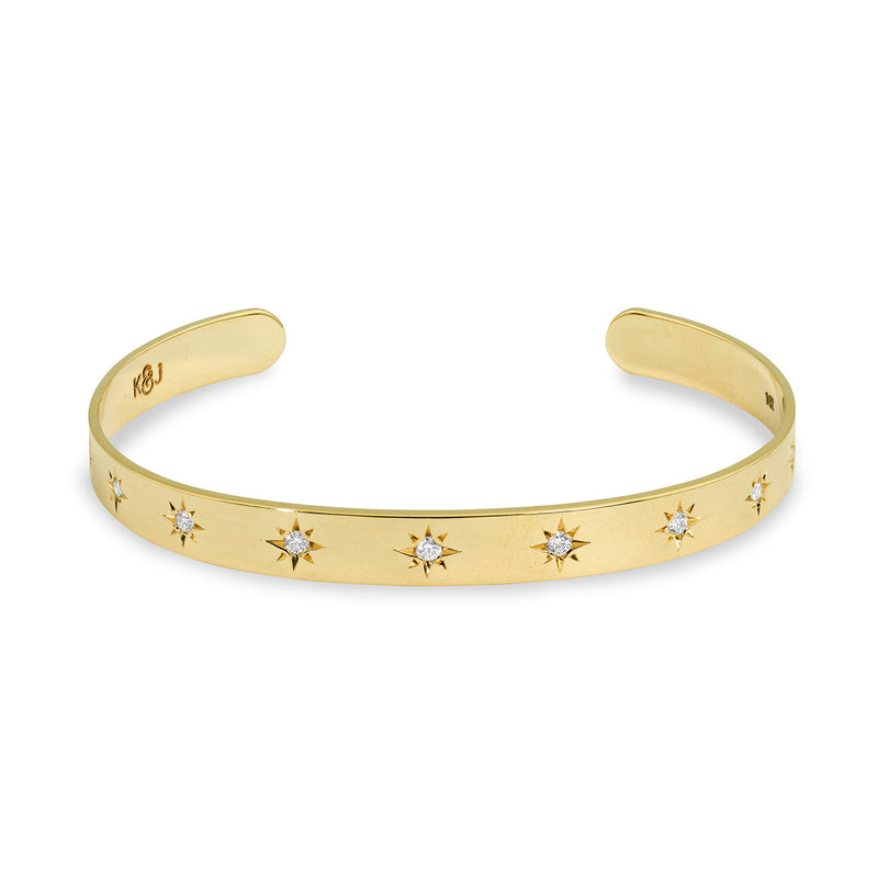 Diamond Star Cuff, Jewelry - Katherine & Josephine