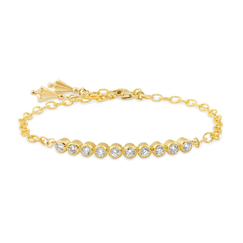 Yellow Gold RBC Bar Bracelet,  - Katherine & Josephine