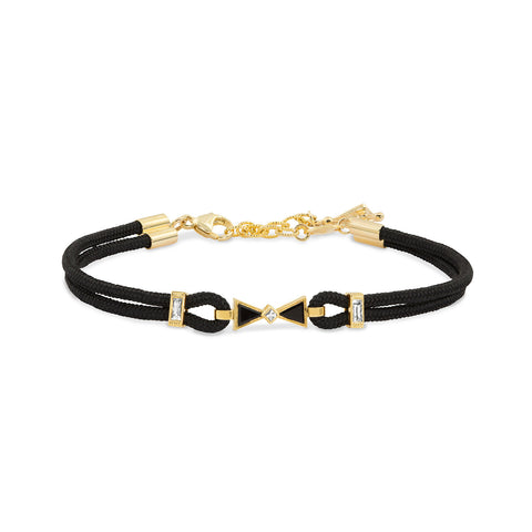 Yellow Gold and Diamond Bow Bracelet,  - Katherine & Josephine