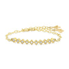 Gold French Cut Bar Bracelet,  - Katherine & Josephine